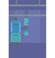 Background of domestic household boiler room vector image