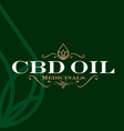 cbd oil logo label vector image