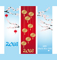 chinese new year banners collections vector image