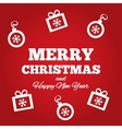 Christmas greetings card with flat icons vector image vector image