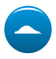 cloudy icon blue vector image vector image