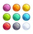 colorful bright bubbles set vector image vector image