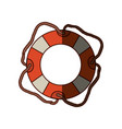 colorful flotation hoop with cord and middle vector image vector image