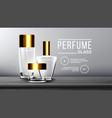 cosmetic glass branding background luxury vector image vector image