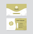 creative business card design vector image vector image