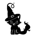 cute black kitten vector image