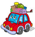 cute car with baggage vector image