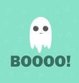 cute ghost flat design halloween banner vector image vector image