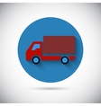 Delivery van car falt icon vector image vector image