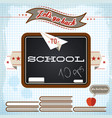 education retro concept vector image vector image
