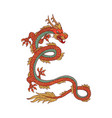 fantasy chinese dragon with red scales cartoon vector image vector image