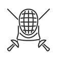 Fencing line icon vector image