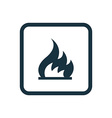 fire icon Rounded squares button vector image vector image