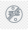 fishing concept linear icon isolated on vector image