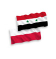 flags poland and syria on a white background vector image