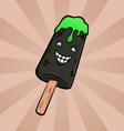 Funny cartoon ice-cream vector image vector image