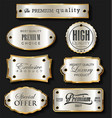 gold and silver sale labels retro vintage design vector image