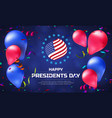 greeting card or banner with striped flag and vector image vector image