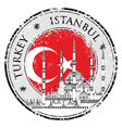 Grunge rubber stamp with words Istanbul Turkey vector image vector image