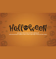 halloween style background design collection vector image vector image