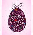 happy easter lettering inscription easter eggs vector image vector image