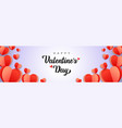 happy valentines day background with paper hearts vector image vector image