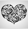heart black abstract tribal tattoo decorative vector image