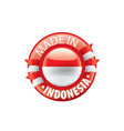 indonesia flag on a white vector image vector image