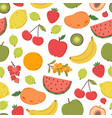 juicy fruits pattern bright fruit texture vector image