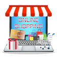 laptop with online marketing store vector image