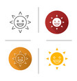 laughing sun smile icon vector image