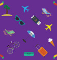 looping travel seamless background wallpaper vector image