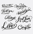 love and romantic hand written typography vector image vector image