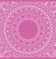 mandala rituals spiritual classic pink background vector image