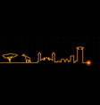 nairobi light streak skyline vector image vector image