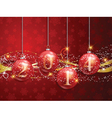 new year baubles background 1111 vector image vector image