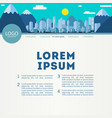 one page website design with city header vector image vector image