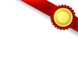 orner ribbon and quality certificate vector image