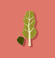 paper sticker on stylish background plant betula vector image vector image
