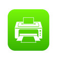 printer icon digital green vector image vector image