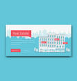 real estate banner template vector image