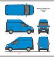 renault tragic cargo delivery van l1h2 2014 vector image vector image