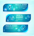 science and health blue horizontal banners set vector image vector image