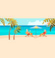 senior age couple family people on vacation vector image vector image