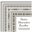 set decorative brushes vector image vector image