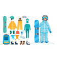 set for creating character clothes equipment vector image vector image