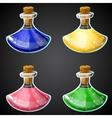 Set of cartoon potion bottle vector image vector image
