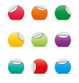 set of empty paper stickers with space for text vector image