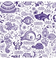 Set of fish and shells vector image