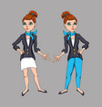 set of girls characters for games and vector image